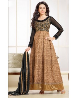 Karishma Kapoor In Georgette Anarkali Suit  - 16976