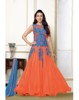 Karishma Kapoor In Orange Net Anarkali Suit  - 16983