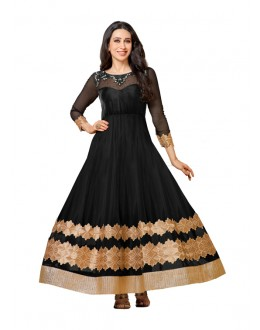 Karishma Kapoor In Black Georgette Anarkali Suit  - 16987