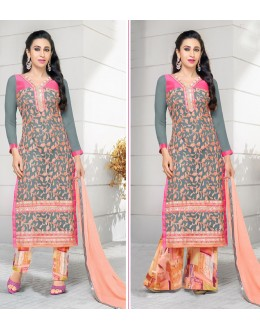 Karishma Kapoor In Multi-Colour Georgette Salwar Suit  - 17171