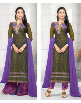 Karishma Kapoor In Multi-Colour Georgette Salwar Suit  - 17172