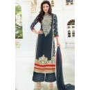 Ethnic Wear Off Blue Georgette Palazzo Suit - 17174