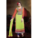 Office Wear Light Green Georgette Salwar Suit - 17184