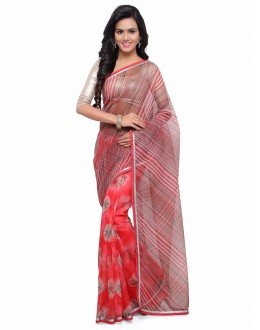 Multi-Colour Cotton Silk Bandhani Saree  - 17207