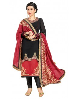 Karishma Kapoor In Black Georgette Salwar Suit  - 17249