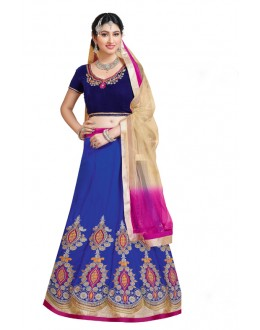 Festival Wear Velvet Embroidery Lehenga Choli - 17254