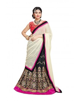 Traditional Black Velvet Lehenga Choli - 17255
