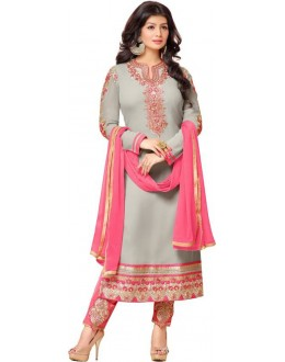 Ayesha Takia In Grey Georgette Salwar Suit  - 17387