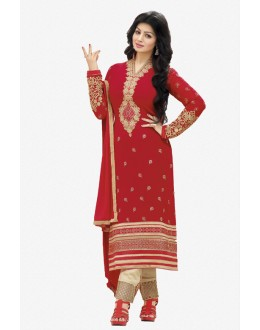 Ayesha Takia In Red Georgette Salwar Suit  - 17389