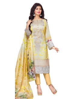 Ayesha Takia In Cream Georgette Salwar Suit  - 17394