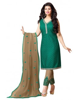 Ayesha Takia In Green Georgette Salwar Suit  - 17396