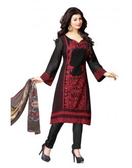 Ayesha Takia In Black Georgette Salwar Suit  - 17399