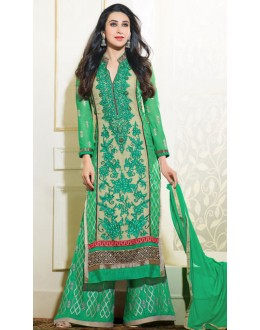 Karishma Kapoor In Light Green Georgette Palazzo Suit  - 18000