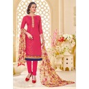 Office Wear Pink Brasso Cotton Salwar Suit - 18014
