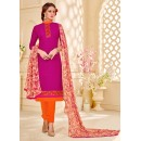 Office Wear Pink Brasso Cotton Salwar Suit - 18019