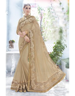 Ethnic Wear Beige Fancy Saree  - 18102