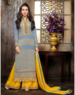 Karishma Kapoor In Light Blue Georgette Palazzo Suit  - 18115
