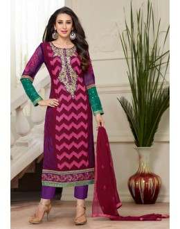 Karishma Kapoor In Multi-Colour Georgette Salwar Suit  - 18121