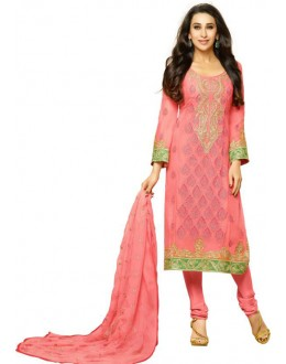 Karishma Kapoor In Light Pink Georgette Salwar Suit  - 18127