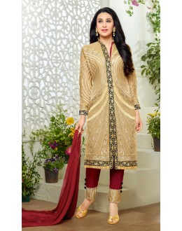 Karishma Kapoor In Cream Georgette Salwar Suit  - 18129