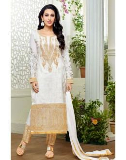 Karishma Kapoor In Off White Georgette Salwar Suit  - 18131