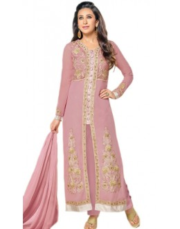 Karishma Kapoor In Light Pink Georgette Salwar Suit  - 18176