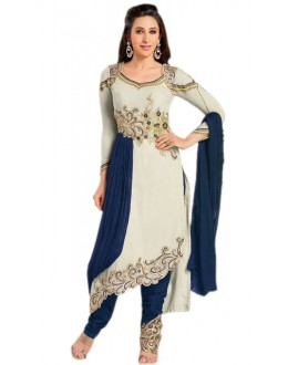 Karishma Kapoor In Light Grey Georgette Salwar Suit  - 18177
