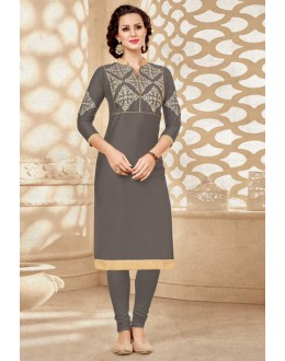 Party Wear Readymade Grey Kurti - 18179