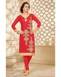 Ethnic Wear Readymade Red Kurti - 18180