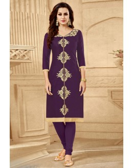 Festival Wear Readymade Purple Kurti - 18182