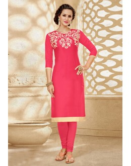 Office Wear Readymade Pink Kurti - 18184