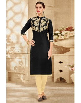 Office Wear Readymade Black Kurti - 18188