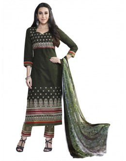 Karishma Kapoor In Green Salwar Suit - 18348