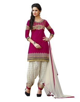 Office Wear Pink Pure Cotton Patiyala Suit - 18353