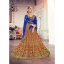 Wedding Wear Rani Square Net Lehenga Choli - 18375
