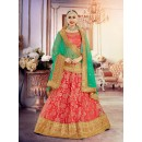 Gajari Colour Rasal Net Lehenga Choli - 18377