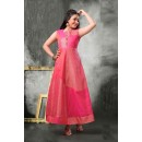 Kids Wear Girl Readymade Pink Gown - 18393