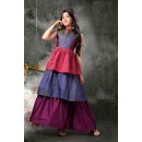 Kids Wear Ethnic Readymade Multi-Colour Gown - 18395