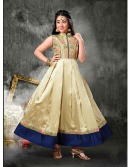 Kids Wear Designer Readymade Golden Gown - 18400