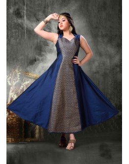 Kids Wear Girl Readymade Blue Gown - 18401