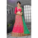 Gajari Colour Net Embroidery Lehenga Choli - 18442