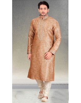 Readymade Multi-Colour Silk Kurta & Pajama - 18460