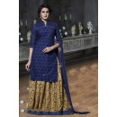 Blue Colour Cotton Lehenga Suit  - 18468