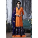 Casual Wear Orange Cotton Lehenga Suit  - 18472
