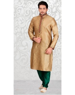 Festival Wear Readymade Golden Kurta & Pajama - 18529