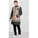 Readymade Multi-Colour Brocade Sherwani - 18563