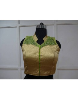 Party Wear Readymade Golden Blouse - 18869