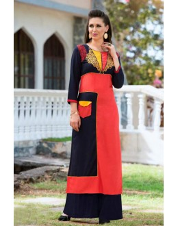 Casual Wear Readymade Multi-Colour Rayon Tunic - 18881