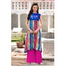 Ethnic Wear Readymade Multi-Colour Polyster Tunic - 18883