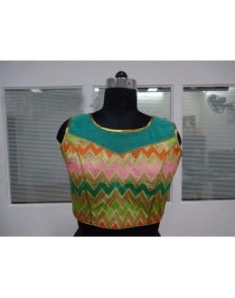 Readymade Multi-Colour Net Blouse - 18900